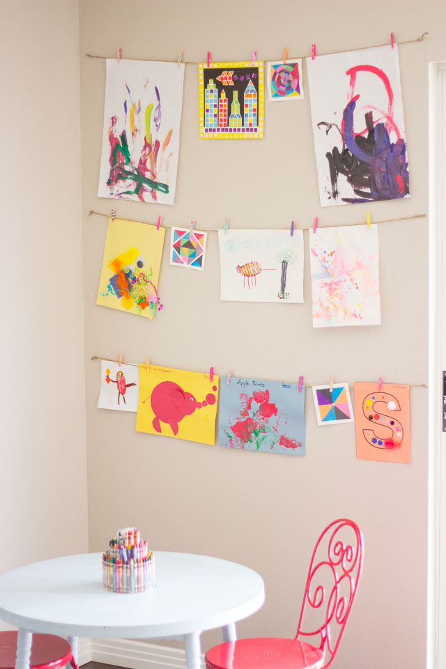 10 Kids' Art Display Ideas